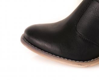 Дамски летни ботуши еко кожа черни NQBD-16265