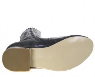 Дамски летни ботуши  еко кожа черни TLOI-18587