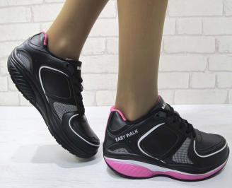 Дамски маратонки  Bulldozer еко кожа черни RYHR-23223