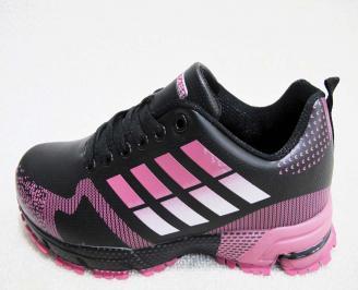Дамски маратонки  Bulldozer еко кожа черни DIRR-23225