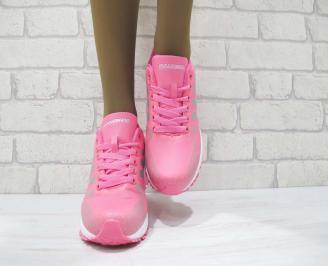 Дамски  маратонки   Bulldozer еко кожа розови ZSOI-23226