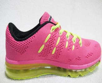 Дамски маратонки Bulldozer текстил розови UTHJ-23230