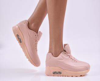 Дамски маратонки  еко кожа розови JFXS-26836