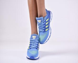 Дамски маратонки  текстил сини LTVT-1011135