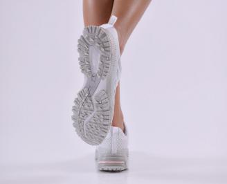 Дамски  маратонки  текстил бели 3