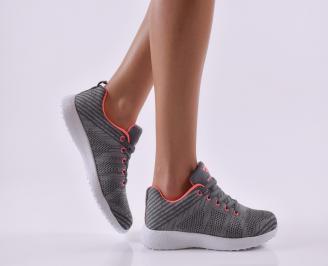 Дамски маратонки  текстил сиви FBVO-26830