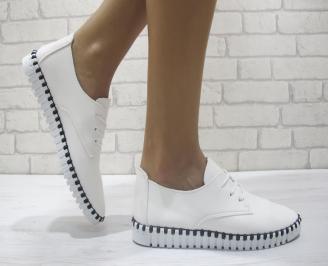 Дамски  обувки  бели еко кожа ESAE-23957