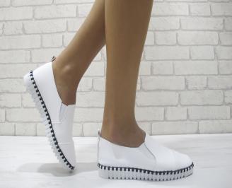 Дамски  обувки  бели еко кожа AXMH-23966
