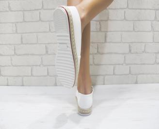 Дамски  обувки  бели еко кожа KLBT-24046