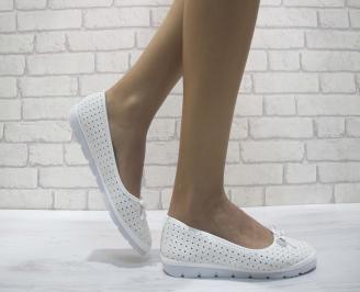 Дамски  обувки  бели еко кожа TQEA-24110