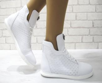 Дамски обувки бели естествена кожа XSLE-22874