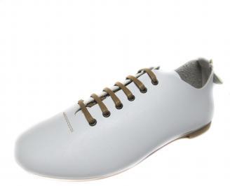 Дамски обувки бели естествена кожа DASQ-18869