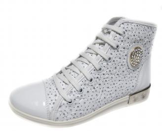 Дамски обувки бели естествена кожа GVMC-18883