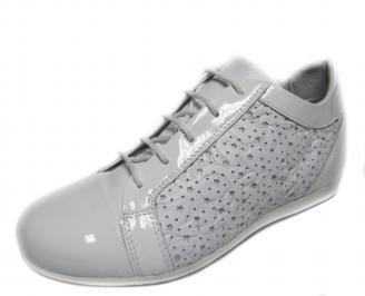 Дамски обувки бели естествена кожа RVRJ-18886