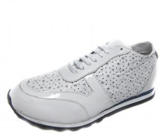 Дамски обувки бели естествена кожа EHST-18889