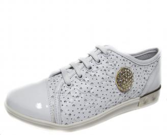 Дамски обувки бели естествена кожа KMFN-18895