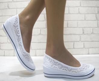 Дамски  обувки  бели текстил WWPA-23955