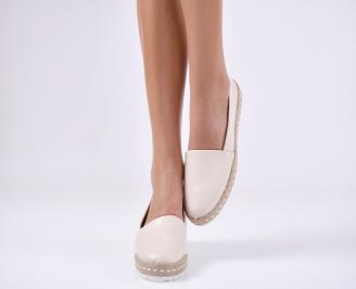 Дамски  обувки  бежови еко кожа YRFQ-24047