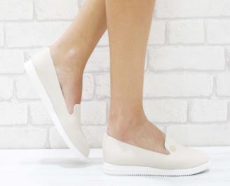 Дамски  обувки  бежови еко кожа WXDM-26459