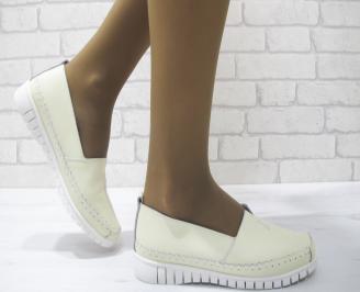 Дамски обувки  бежови естествена кожа AYIL-23513