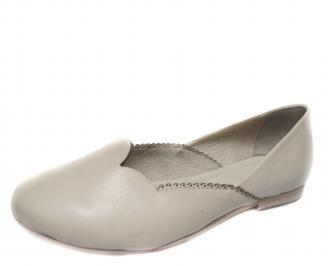 Дамски обувки бежови естествена кожа SFSC-18893