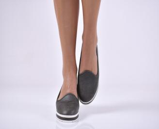 Дамски  обувки черни еко кожа TVUL-23696