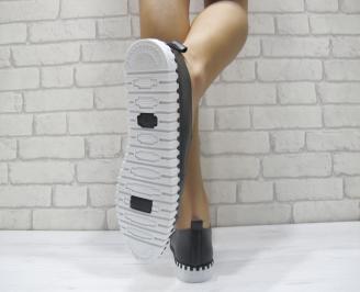 Дамски  обувки  черни еко кожа EAZY-23962