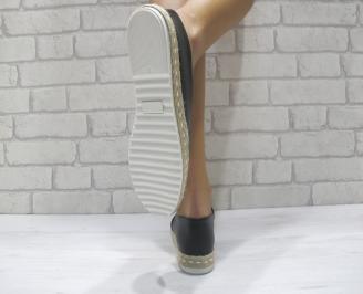 Дамски  обувки  черни еко кожа SSIM-24048