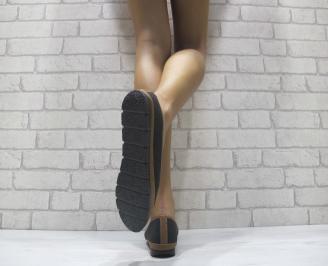 Дамски  обувки  черни еко кожа INQS-24108
