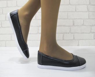 Дамски  обувки  черни естествена кожа BFGU-23509
