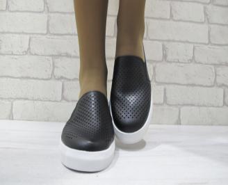 Дамски  обувки  черни естествена кожа CGDQ-23512