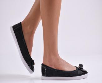 Дамски  обувки черни естествена кожа SHMP-23525