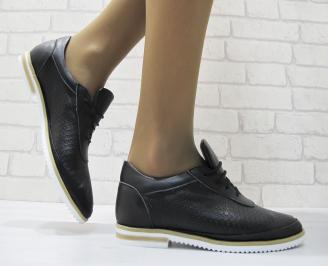 Дамски  обувки черни естествена кожа FDGD-23689