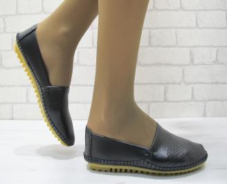 Дамски  обувки  черни естествена кожа EVJX-23697