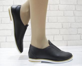 Дамски  обувки  черни естествена кожа AUGV-23727