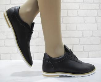 Дамски  обувки  черни естествена кожа NZGG-23766