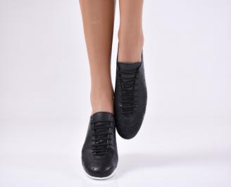 Дамски  обувки  черни естествена кожа XEOP-23806