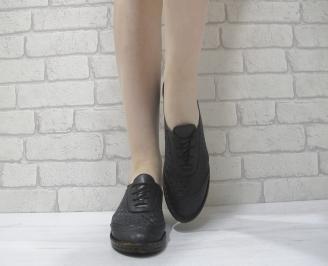 Дамски  обувки  черни естествена кожа GQQV-23977