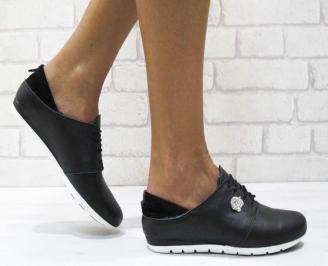 Дамски  обувки  черни естествена кожа XJKW-25017