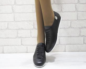 Дамски  обувки  черни естествена кожа OEQQ-25021