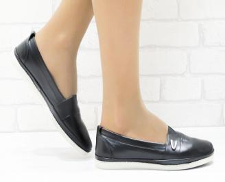 Дамски  обувки  черни естествена кожа GHRS-25333
