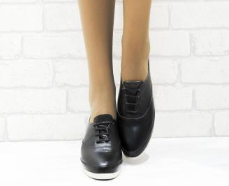Дамски  обувки  черни естествена кожа KWLD-25336