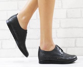 Дамски обувки черни естествена кожа IUAN-26549