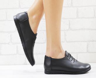 Дамски обувки черни естествена кожа NPAQ-26550