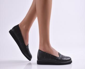 Дамски обувки черни естествена кожа PIHZ-26551