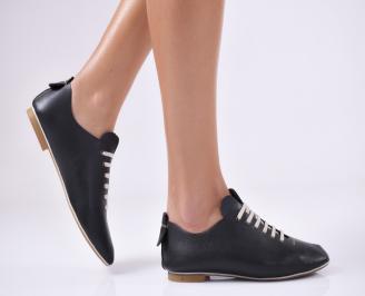 Дамски обувки черни естествена кожа RMVM-18868