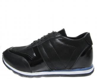 Дамски обувки черни естествена кожа TQZM-18890