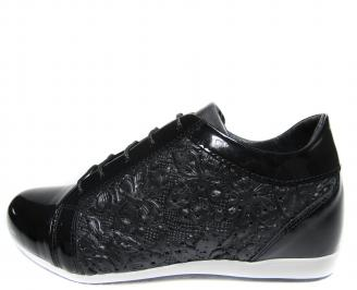 Дамски обувки черни естествена кожа NIID-18892