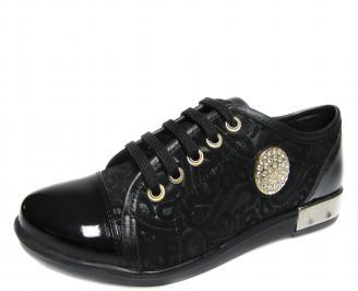 Дамски обувки черни естествена кожа AXVS-18896