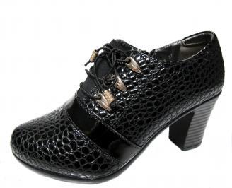 Дамски обувки  черни от еко кожа EDTD-22527
